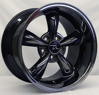 deep dish mustang black chrome bullitt wheels 17x9 10 5