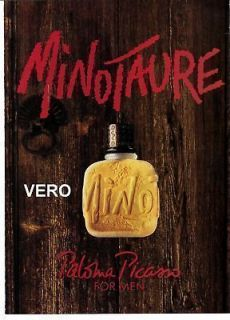 1993 magazine ad Paloma Picasso MINOTAURE FRAGRANCE PARFUM COLOGNE