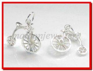penny farthing moving st silver charm 925 x 1 bj1414
