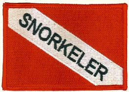 SCUBA DIVE FLAG PATCH FOR THE SNORKELER * ON SALE