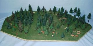 PREISER DEER FALLER TREES MADE IN GERMANY FOREST PARK MODEL RAILROAD