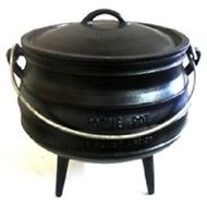 Cauldron SIZE 8 Potjie Pot Camping Kettle Open Fire LARGE CAST IRON