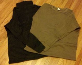 Polypropylene Thermal Underwear Crew or Zip Top ECWCS Military Issue