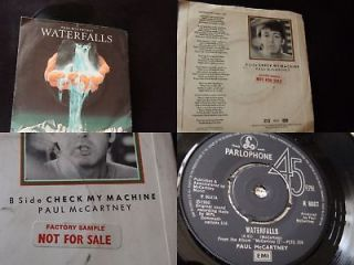 newly listed paul mccartney beatles uk demo 1st waterfalls p