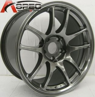 18x9 5 rota torque wheels rim 5x100 35mm hyper black