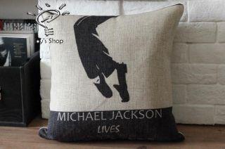 Novelty Michael Jackson Dancing Feet pattern cushion cover decorative