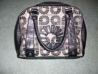 newly listed akademiks small bowling bag style purse black time