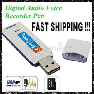 Disk Shaped SPY Digital Audio Voice Recorder Pen USB Flash Drive TF