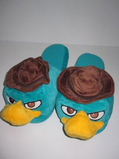 NWT Phineas & Ferb PERRY THE PLATYPUS Agent P Mens Plush SLIPPERS XL
