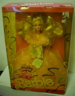 4561 NRFB Mattel Birthday Surprise Barbie Peach Dress (Bad Box)