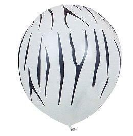 24 Zebra Stripe Animal PRINT Balloons PARTY Zoo SAFARI Latex Qualatex