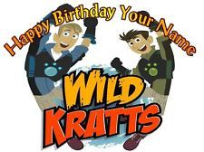 Wild Kratts   10  Edible Photo Cake Topper   Personalized   $3.00