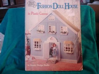 RARE FASHION DOLL HOUSE IN PLASTIC CANVAS PATTERN BOOK 1992 KOOLER