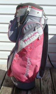 lady slazenger philosophy organizer pink cart golf bag  49
