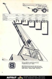 1972 grove 7 28 ton crane truck switzerland ad mercedes