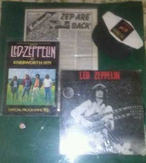 Led Zeppelin / Robert Plant Autographed Knebworth Park 1979 with COA
