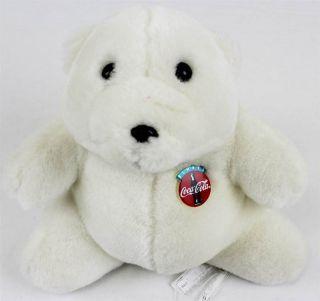 coca cola polar bear plush stuffed animal teddy bear