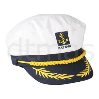 captain navy marine sailor hat cap party fancy dress from