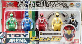 Power Ranger Gokaiger Legend Sentai Ranger Keys Set 06 Go Onger Bandai