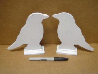 Crow Silhouette Target Targets   2 Pcs 1/4 Steel