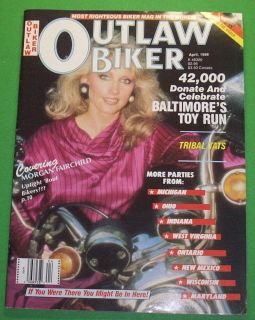 OUTLAW BIKER MAGAZINE APRIL/1988 `McQUEENS MACHINES..THE LEGEND LIVES