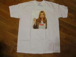 Kate Moss Box Logo 2012 Tee T Shirt Safari Donegal White M L XL