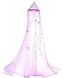 princess pretty chic new pink butterfly bed canopy time left