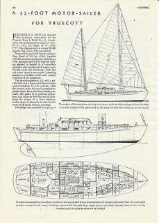 1945 truscott 52 motor sailer review specs time left $