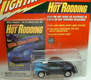 Johnny Lightning 1941 Willys Coupe   Hot Rodding Series   MOC
