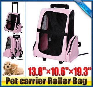 Pawhut 4in1 Pet Rolling Carrier Tote Bag Backpack Travel Airline