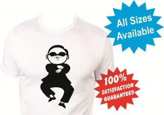 gangnam style psy pop dance music boys girls kids T Shirt New White