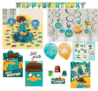 Perry Secret Agent P Phineas & Ferb Birthday Party Supplies