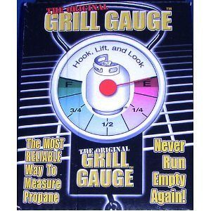 Original Grill Gauge Propane Tank Weight LP Portable RV BBQ Fuel Left