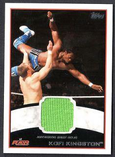 2012 (Topps) WHITE BORDER AUTHENTIC SHIRT RELIC Card KOFI KINGSTON