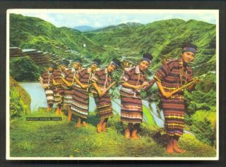benguet festival dance costume 3 stamps philippines from netherlands