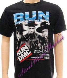 Run DMC music hip hop king of rock Punk Rock Pop Rap Rapper T shirt Sz