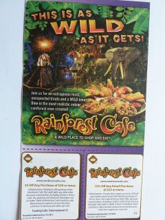 Rainforest coat coupons