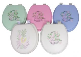 Prima Soft Cushion Embroidery Design Toilet Seat 5 Designs 4 Different