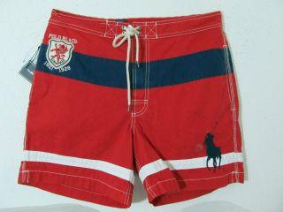 men polo ralph lauren big pony drgaon trunk board swim suit striped
