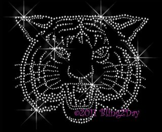 / CAT MASCOT RHINESTONE IRON ON TRANSFER HOT FIX BLING SCHOOL MOM