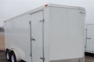 2013 Enclosed Trailer HAULMARK 7x16 Cargo Vee  Nose Ramp Door