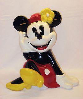 huge minnie mouse disney treasure craft cookie jar mint time