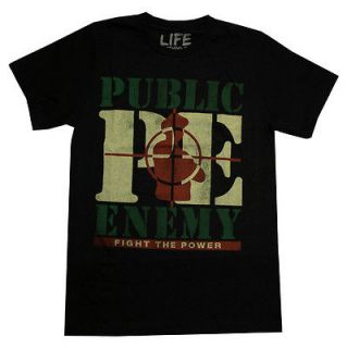 Public Enemy Fight The Power Vintage Style Adult T Shirt Tee