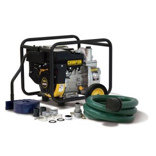 inch Trash/ Water   Champion 2Trash & Water Transfer Pump w/Hose Kit