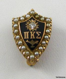 pi kappa sigma 10k gold pearl diamond sorority pin time