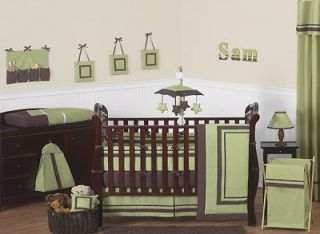 Newly listed MODERN GREEN AND BROWN BABY CRIB BEDDING SET FOR NEWBORN
