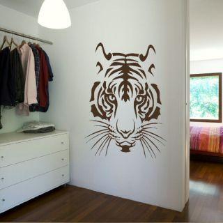 TIGER LION HEAD CUB BIG CAT WALL ART DECAL STICKER large removable