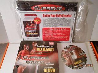 new supreme 90 days workout system 10 dvd set time
