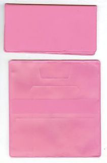 vinyl checkbook cover pink