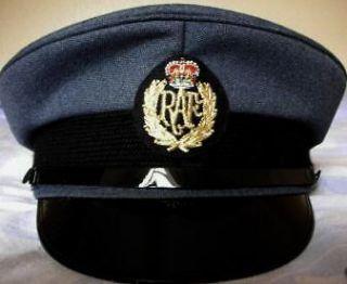 RAF ROYAL AIR FORCE PEAKED CAP/HAT 57 M Pilot British military Visor
